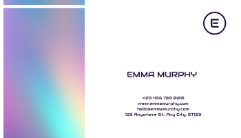 Business Card template: Purple Blue Gradient Background Business Card (Created by InfoART's Business Card maker)