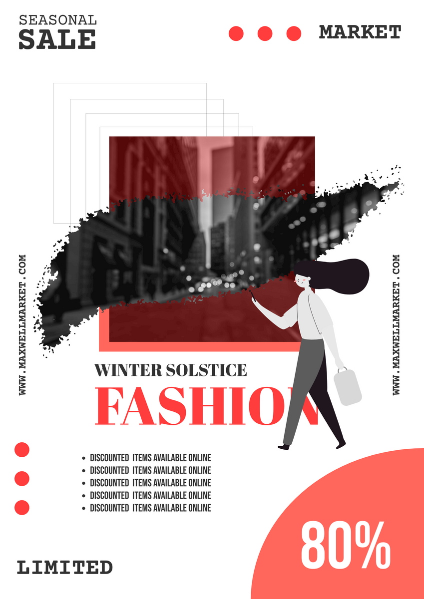 Poster template: Winter Solstice Sale Poster (Created by InfoART's Poster maker)