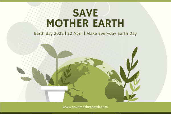 Greeting Card template: Green Earth And Plants Illustrations Greeting Card (Created by InfoART's Greeting Card maker)