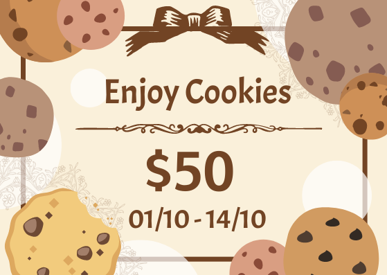 Gift Card template: Cookies Gift Card (Created by InfoART's Gift Card marker)