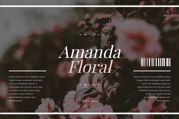 Label template: Flower Shop Floral Packaging Label (Created by InfoART's Label maker)