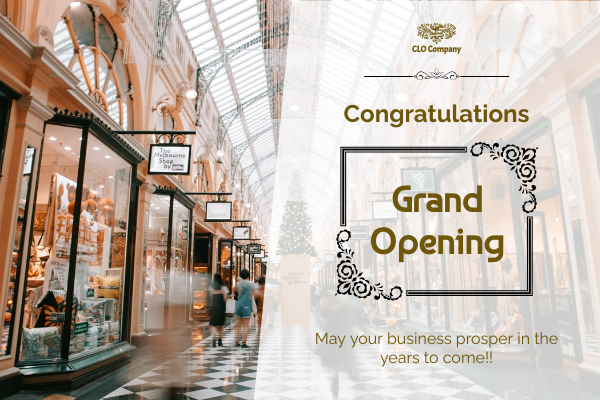 Greeting Card template: Grand Opening Greeting Card (Created by InfoART's Greeting Card maker)