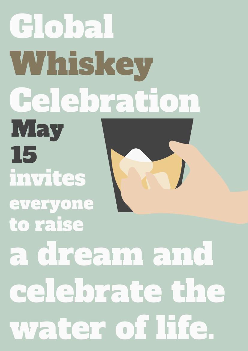 Flyer template: Global Whisky Celebration Day Flyer (Created by InfoART's Flyer maker)