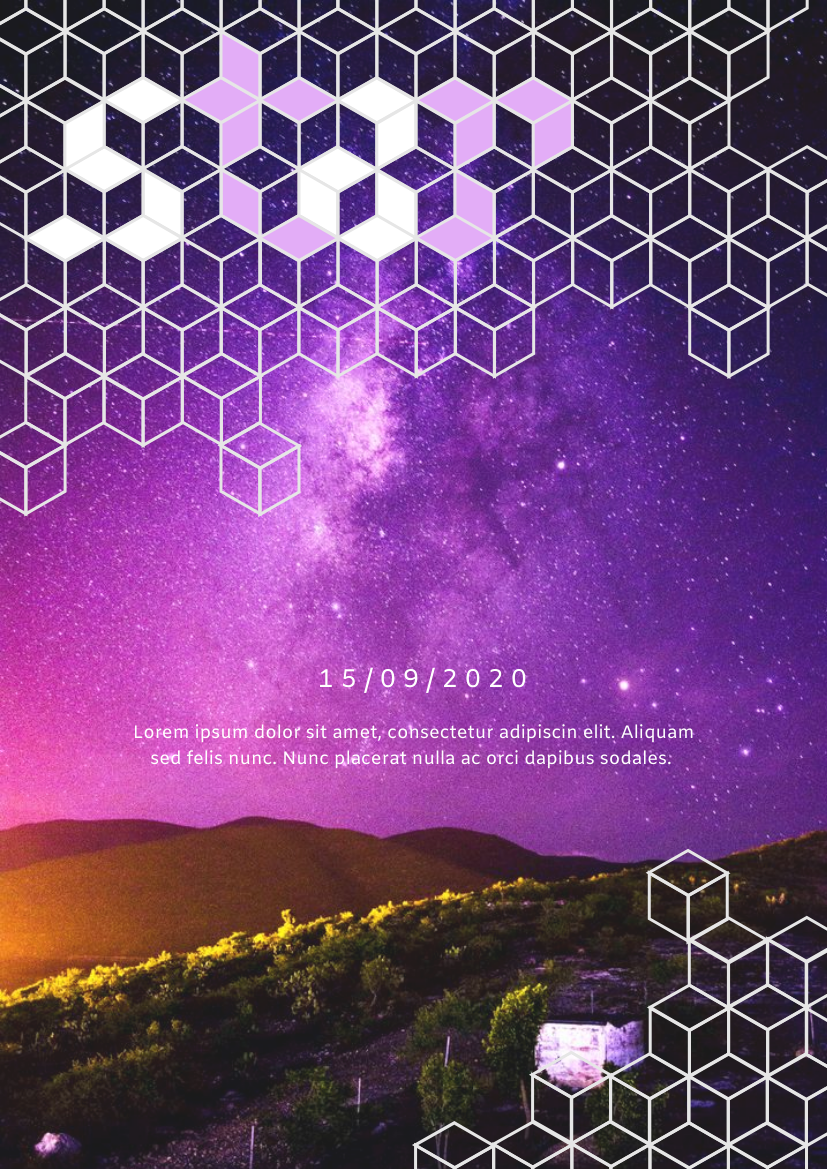 Flyer template: Star Observing Activity Flyer (Created by InfoART's Flyer maker)