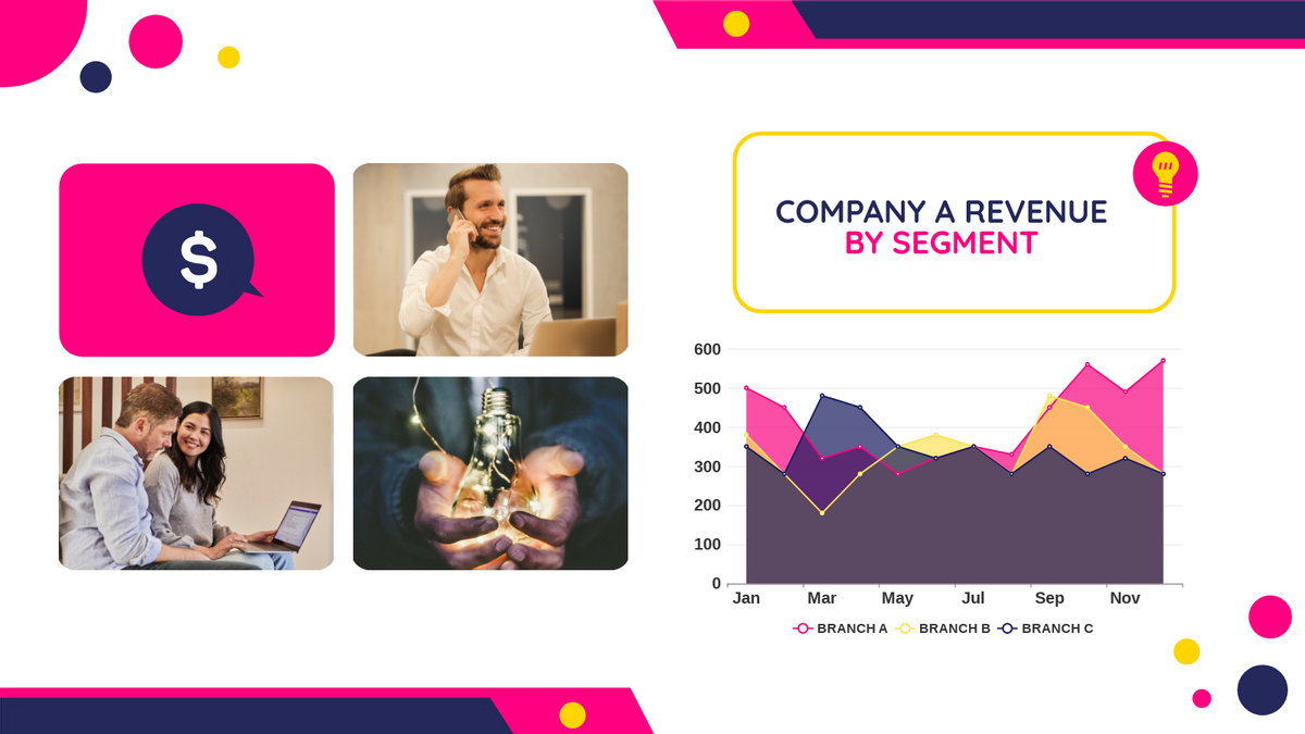 Area Chart template: Company Revenue Area Chart (Created by Chart's Area Chart maker)