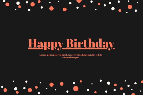 Greeting Card template: Birthday Card 2 (Created by InfoART's Greeting Card marker)