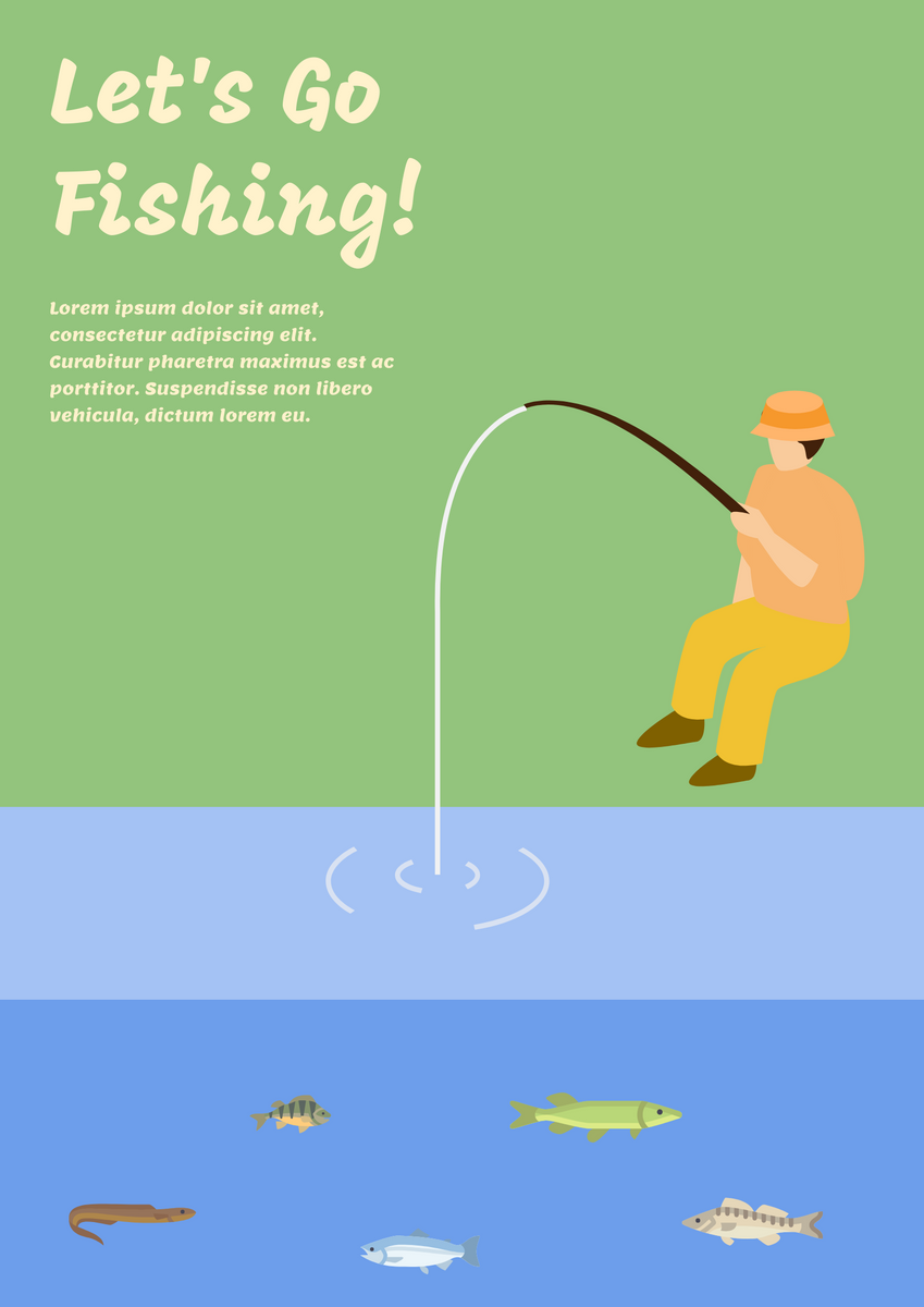 Poster template: Fishing poster (Created by InfoART's Poster maker)