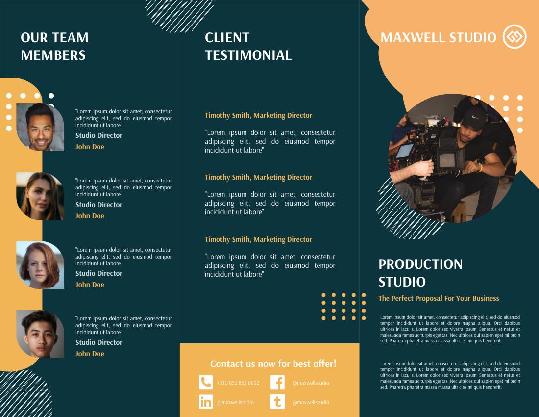 Brochure template: Green Production House Brochure (Created by InfoART's Brochure maker)