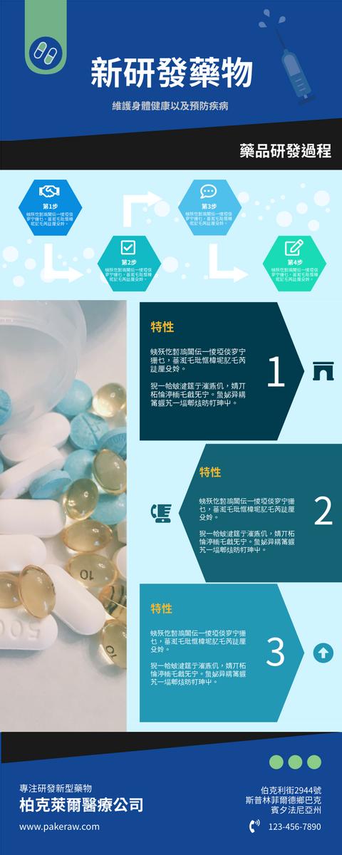 信息圖表 template: 新研發藥物詳解信息圖表 (Created by InfoART's 信息圖表 maker)