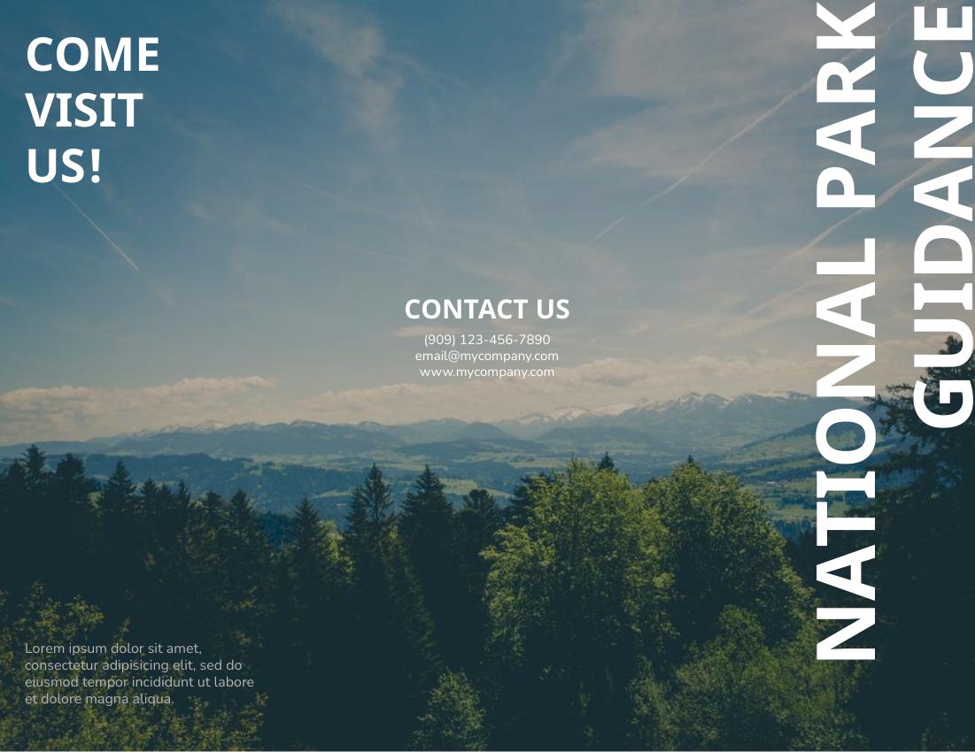 Brochure template: National Park Guidance Brochure (Created by InfoART's Brochure maker)