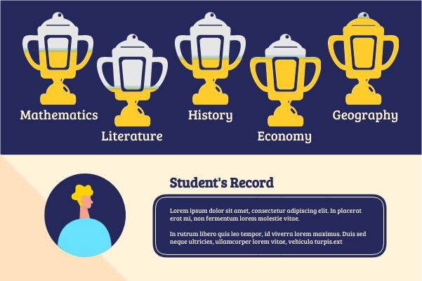 Progress template: Student's Record (Created by InfoChart's Progress maker)
