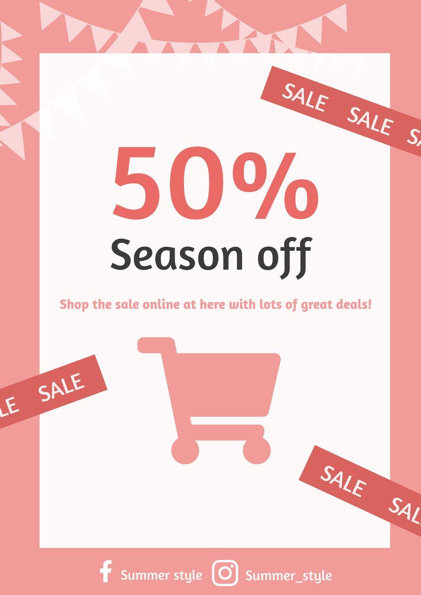 Poster template: Sale Poster (Created by InfoART's Poster marker)