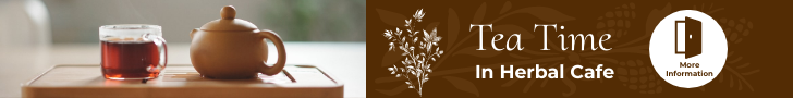 Banner Ad template: Cafe Tea Time Banner Ad (Created by InfoART's Banner Ad maker)