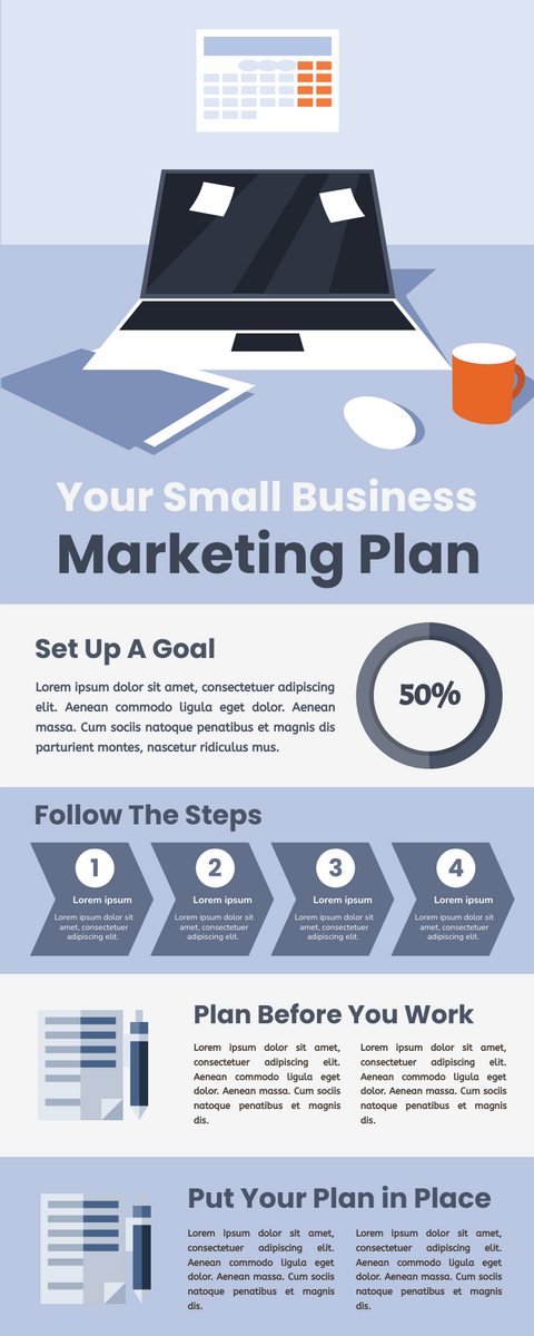 Infographic template: Marketing Plan Infographic (Created by InfoART's Infographic maker)