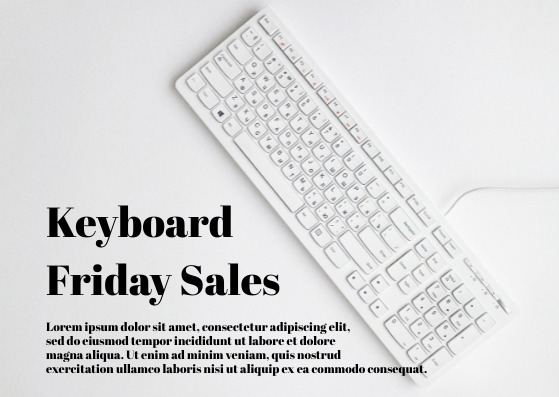 Gift Card template: Keyboard Friday Sales (Created by InfoART's Gift Card marker)