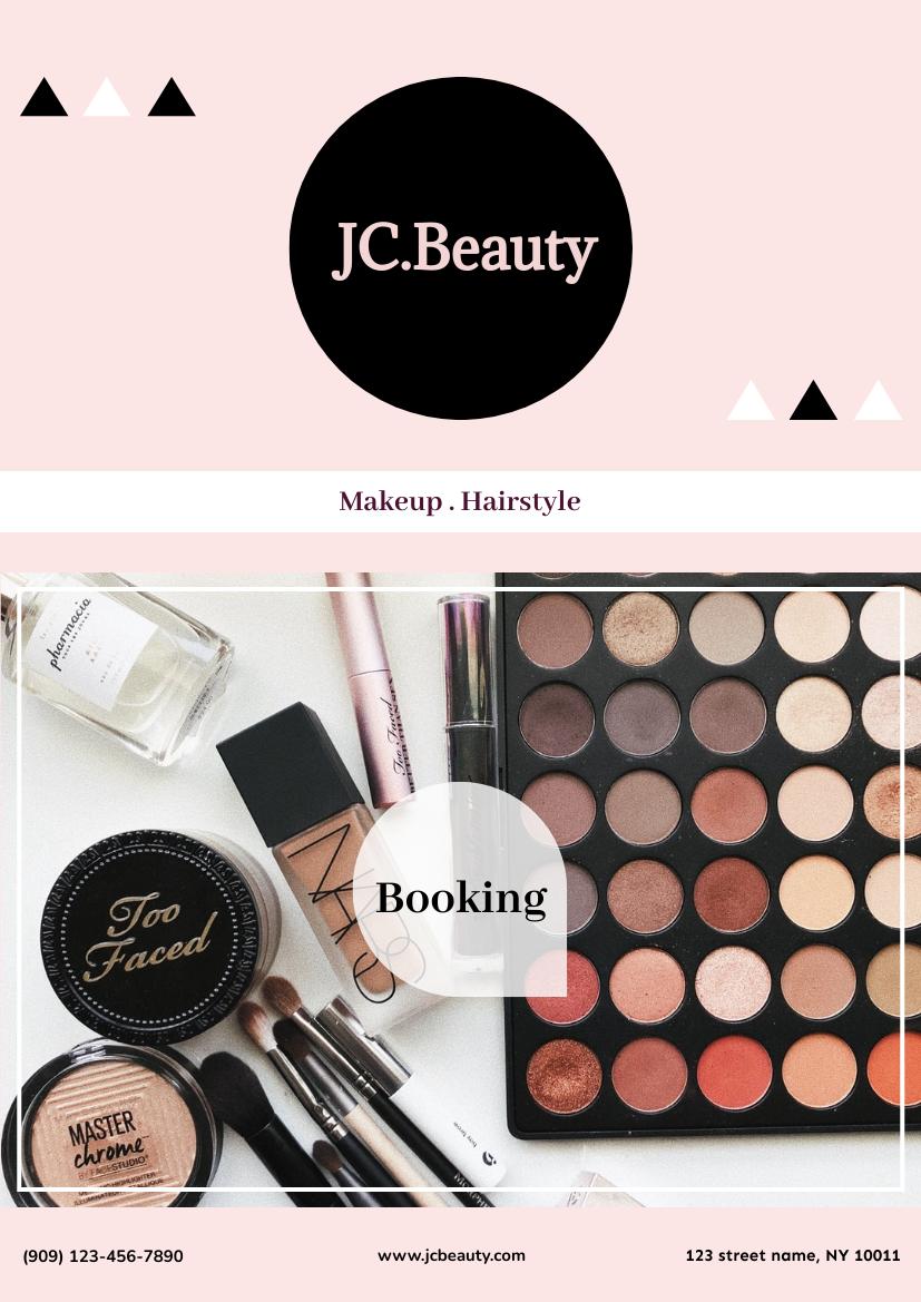 Flyer template: Beauty Booking Flyer (Created by InfoART's Flyer maker)