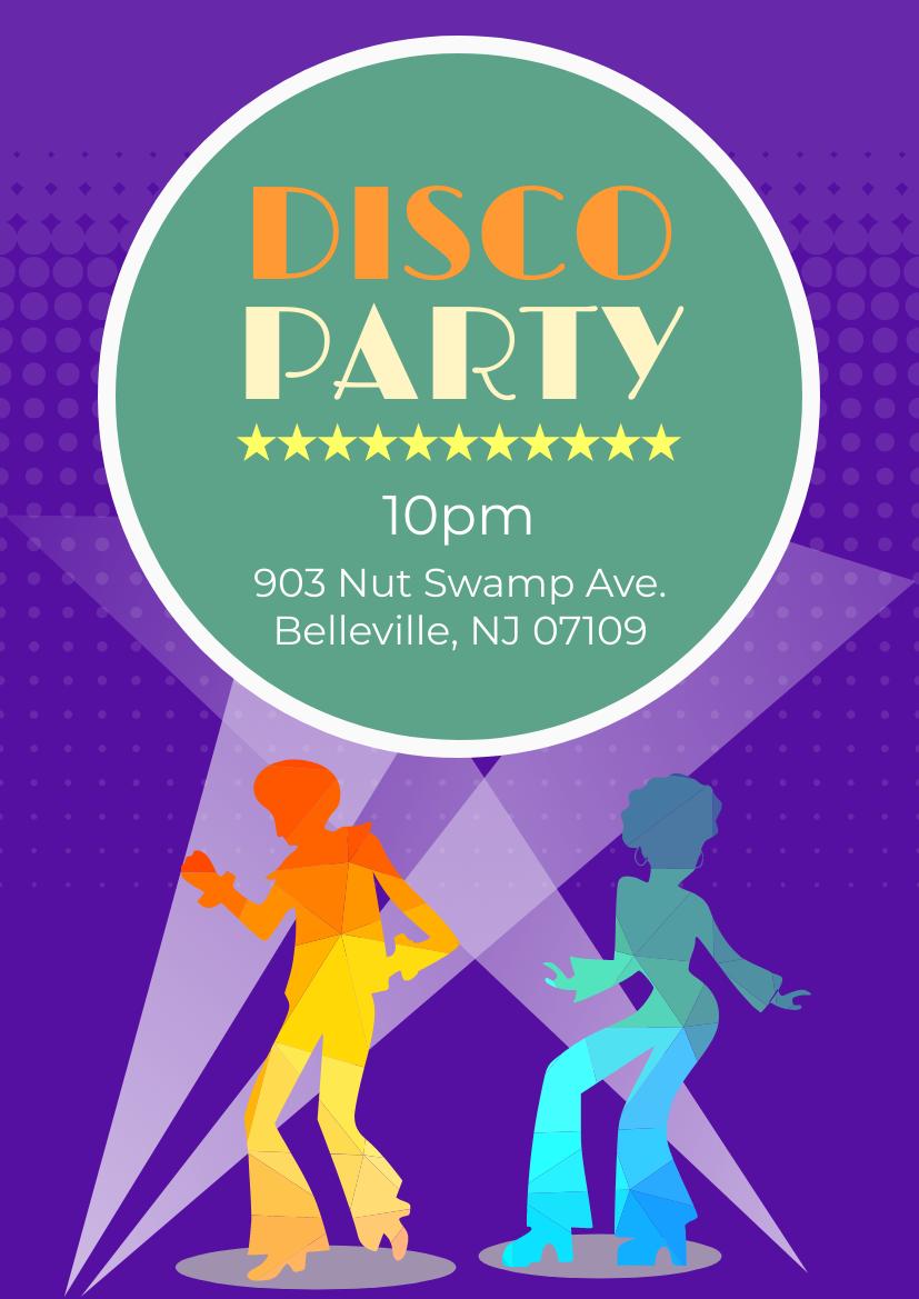 Flyer template: Disco Party (Created by InfoART's Flyer maker)