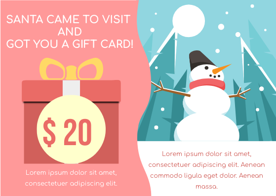 Gift Card template: Snowman Gift Card (Created by InfoART's Gift Card maker)