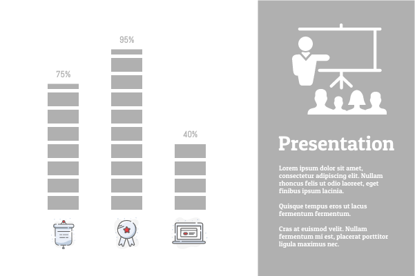 Business template: Product Presentation (Created by InfoChart's Business maker)