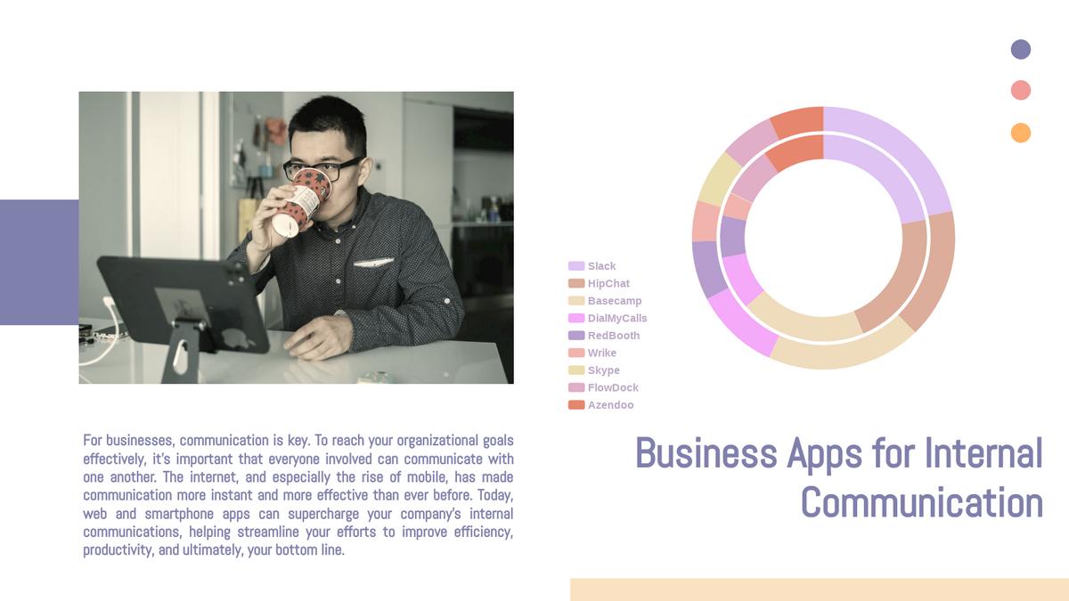 Double Doughnut Chart template: Business Apps Usage Double Doughnut Chart (Created by Chart's Double Doughnut Chart maker)