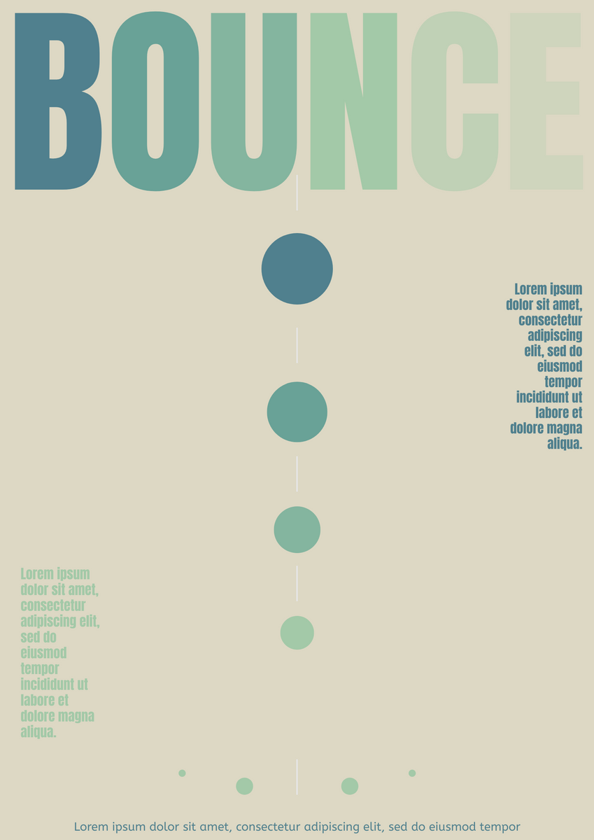 Poster template: Bounce Effect Poster (Created by InfoART's Poster maker)