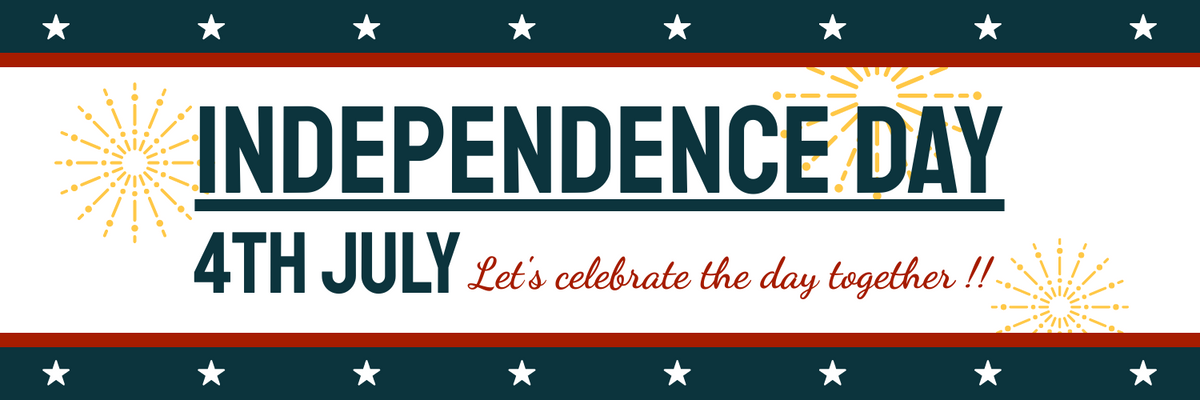 Twitter Header template: Independence Day Twitter Header (Created by InfoART's Twitter Header maker)