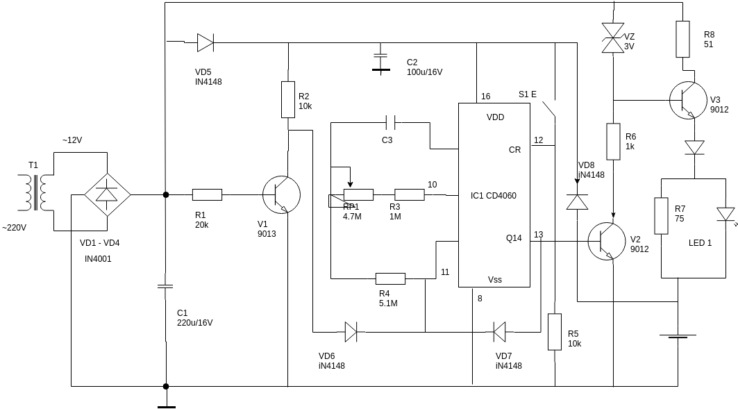 Circuit Diagram template: Timing Charger (Created by Diagrams's Circuit Diagram maker)