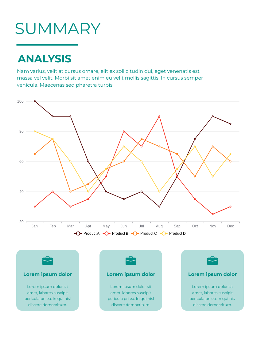 Report template: Simple Annual Reports (Created by InfoART's Report maker)