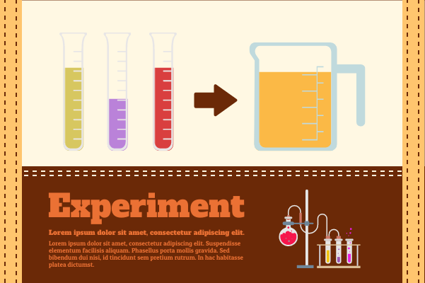Laboratory template: Complicated Experiment (Created by InfoChart's Laboratory maker)