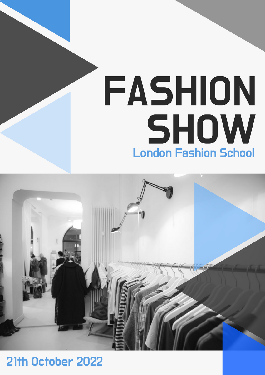 Poster template: Fashion Show Poster (Created by InfoART's Poster marker)