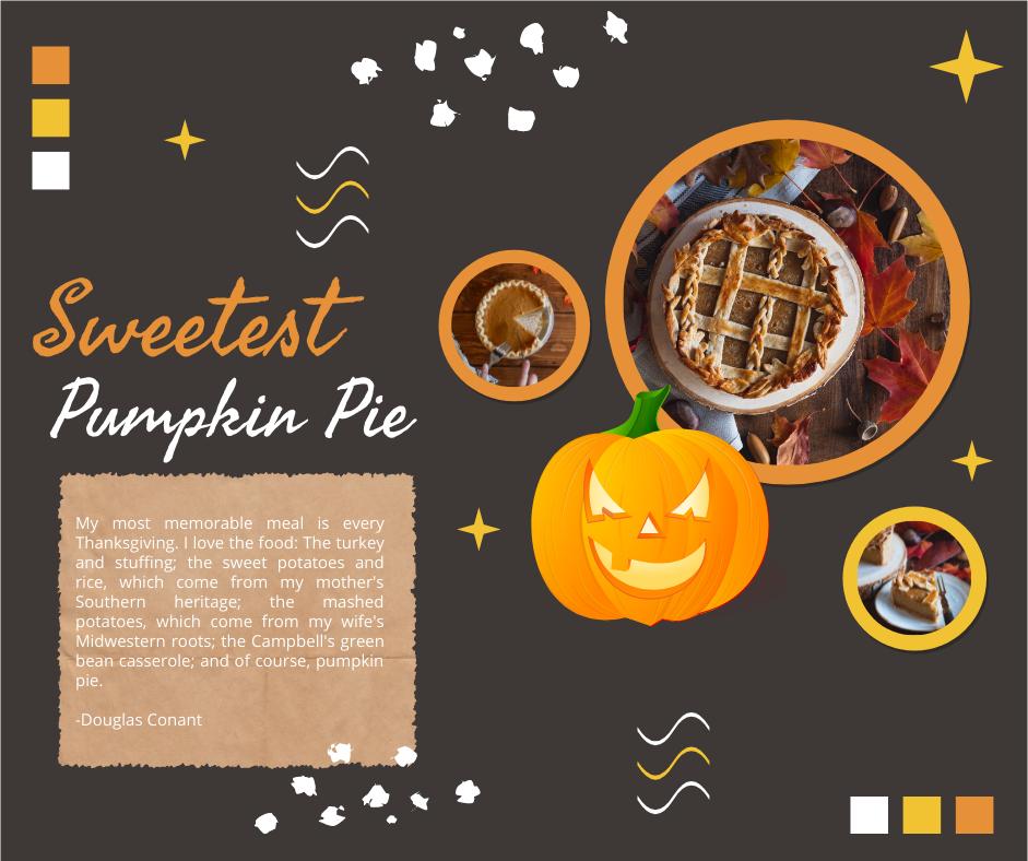 Facebook Post template: Halloween Pumpkin Pie Collage Facebook Post (Created by Collage's Facebook Post maker)