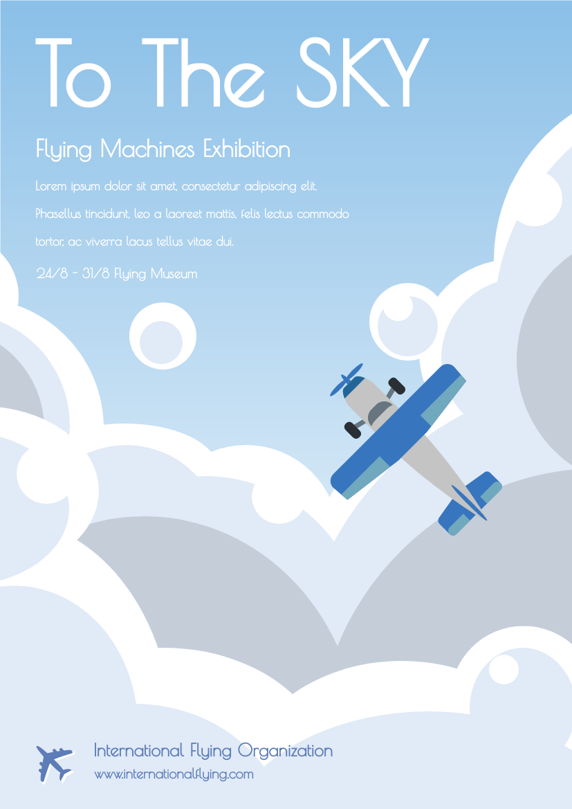 Flying Machine Exhibition Flyer