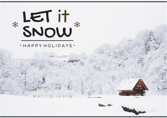 Post Card template: Let It Snow Post Card (Created by InfoART's Post Card marker)