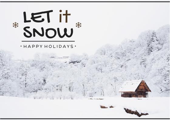 Postcard template: Let It Snow Postcard (Created by InfoART's Postcard maker)