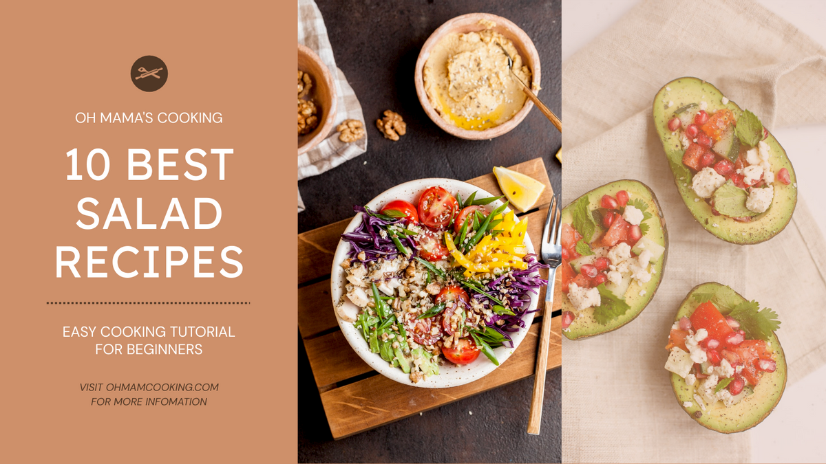 Twitter Post template: Simple Salad Photo Grids Salad Recipes Twitter Post (Created by InfoART's Twitter Post maker)
