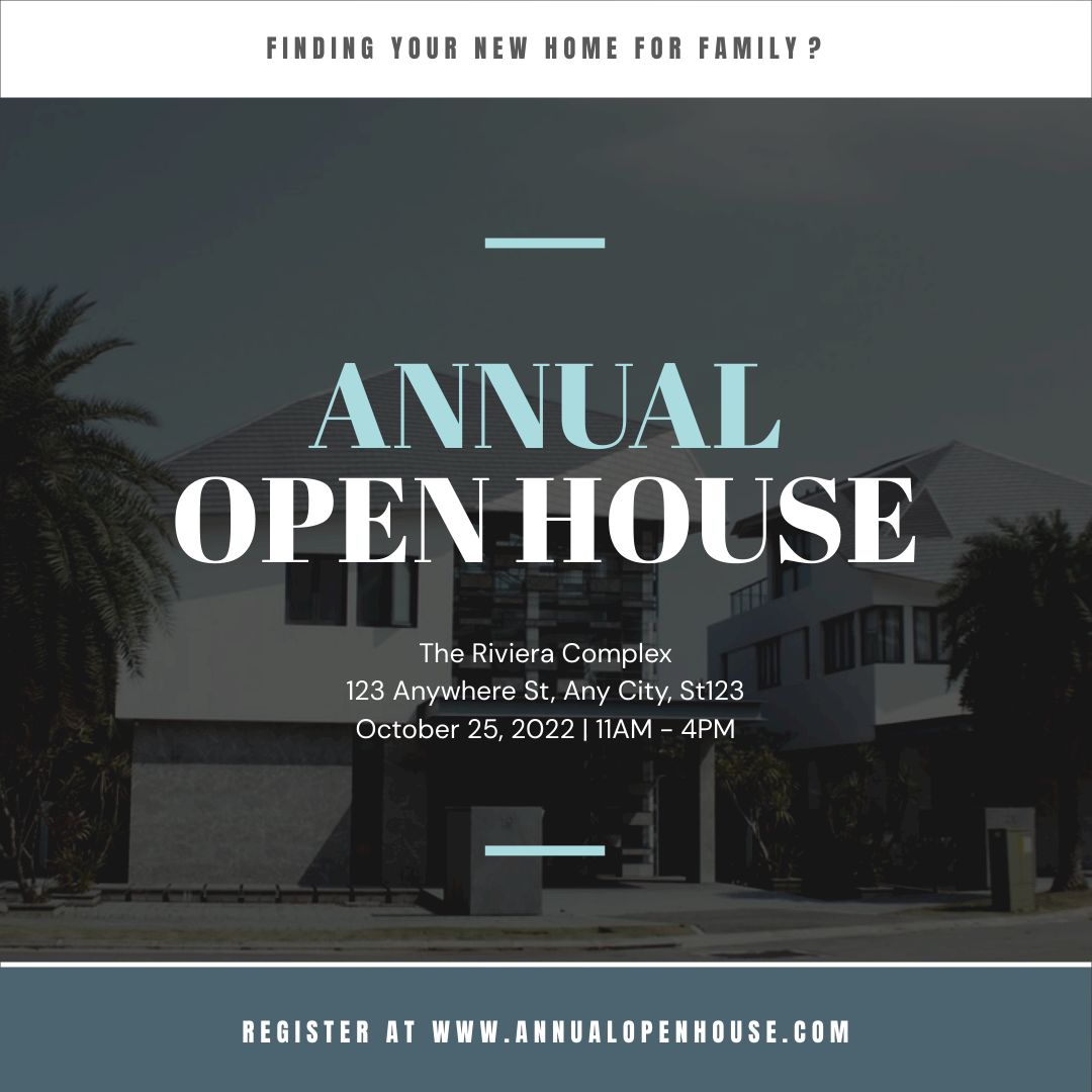 Instagram Post template: Annual Open House Instagram Post (Created by InfoART's Instagram Post maker)