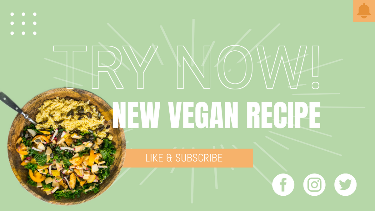 YouTube Thumbnail template: Healthy Eating Recipe YouTube Thumbnail (Created by InfoART's YouTube Thumbnail maker)