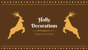 Business Card template: Brown Deer Silhouette Christmas Decorations Business Card (Created by InfoART's Business Card maker)