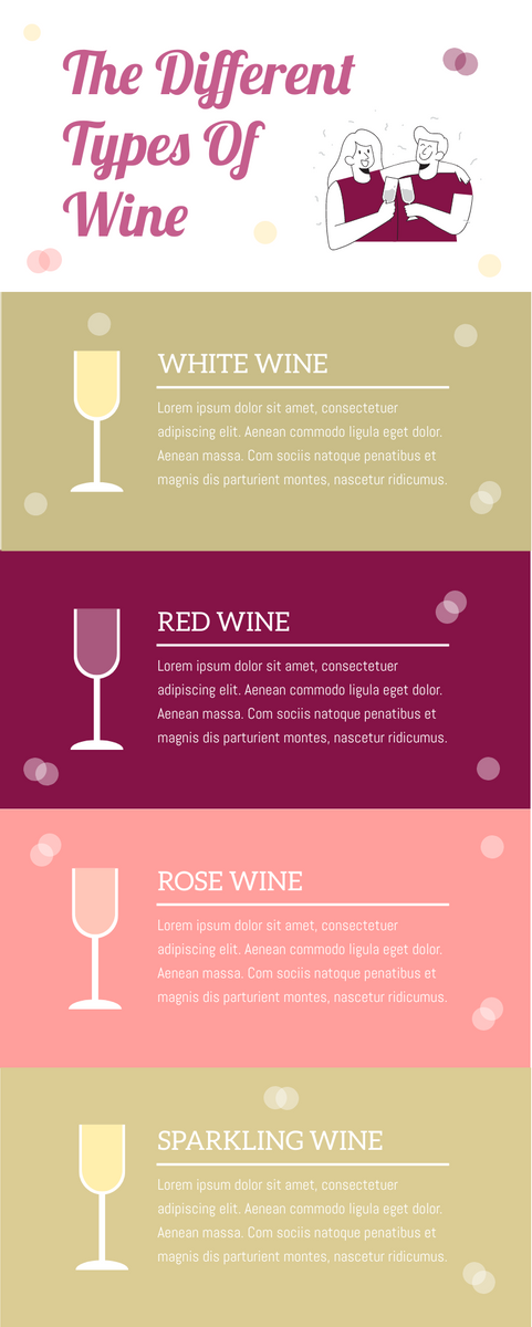 Infographic template: The Types of Wine Infographic (Created by InfoART's Infographic maker)
