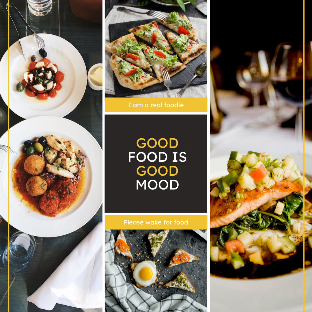 Instagram Post template: Good Food Good Mood Instagram Post (Created by Collage's Instagram Post maker)