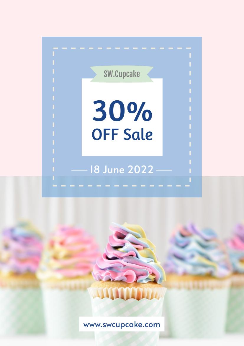 Flyer template: Cupcake sale Flyer (Created by InfoART's Flyer maker)