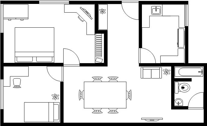 平面圖 template: House Floor Plan (Created by Diagrams's 平面圖 maker)