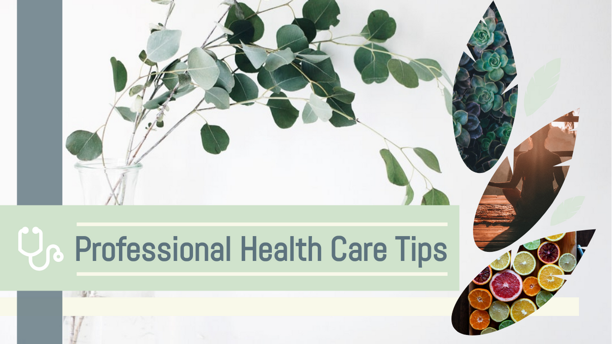 YouTube Thumbnail template: Professional Health Care Tips YouTube Thumbnail (Created by Collage's YouTube Thumbnail maker)