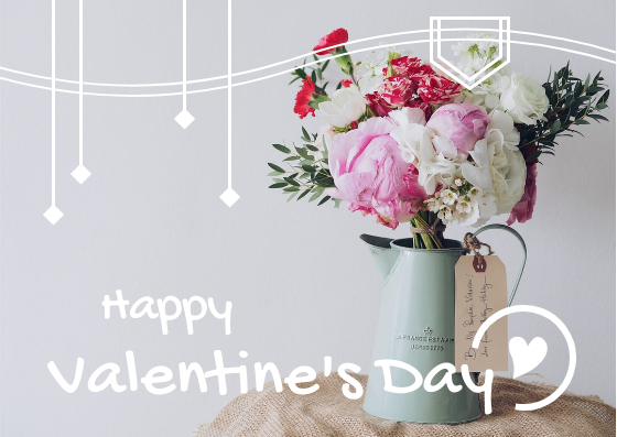 Postcard template: Simple Happy Valentine's Day Photography Postcard (Created by InfoART's Postcard maker)