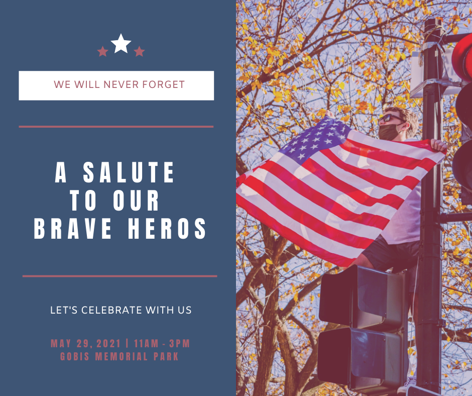 Facebook Post template: Blue And Pink Flag Photo Memorial Day Facebook Post (Created by InfoART's Facebook Post maker)