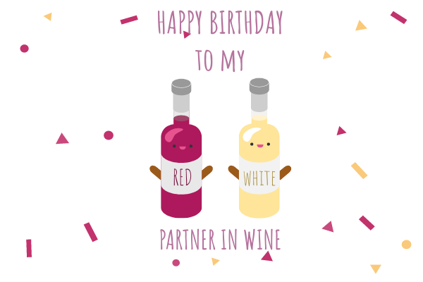 Greeting Card template: Wine Birthday Card (Created by InfoART's Greeting Card maker)