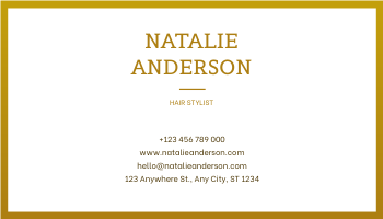 Business Card template: Black And White Marble With Gold Business Card (Created by InfoART's Business Card maker)
