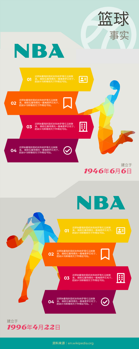 信息图表 template: 篮球信息图表 (Created by InfoART's 信息图表 maker)