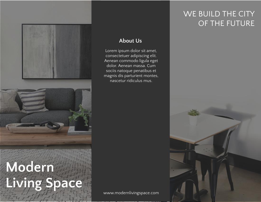 Brochure template: Modern Living Space Brochure (Created by InfoART's Brochure maker)