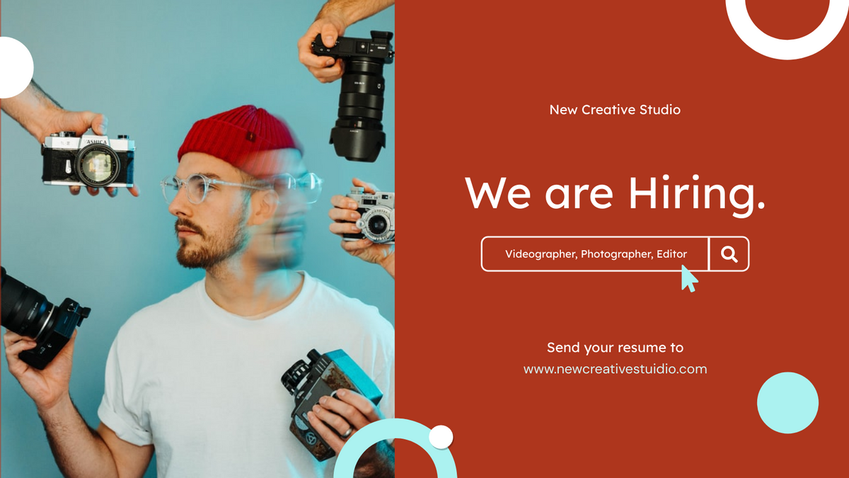 Twitter Post template: Photographer Hiring Job Twitter Post (Created by InfoART's Twitter Post maker)